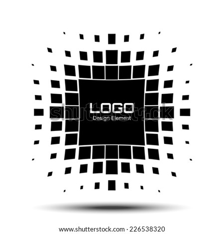Abstract Halftone Logo Design Element, raster illustration  - stock photo