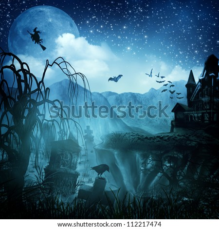 Abstract Halloween backgrounds for your design - stock photo