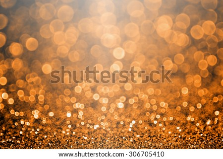 Abstract Halloween or Thanksgiving glitter sparkle orange and black background party invitation - stock photo