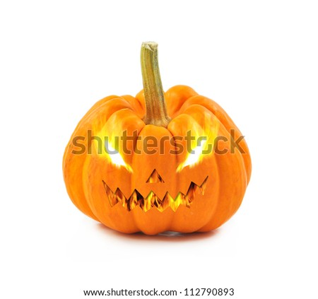 abstract halloween pumpkin on white background