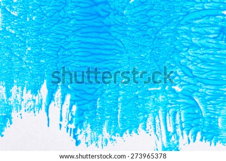 Abstract hand drawn blue acrylic background  - stock photo