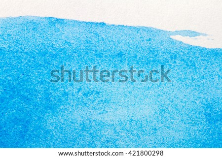 Abstract hand drawn blue watercolor paints background  - stock photo