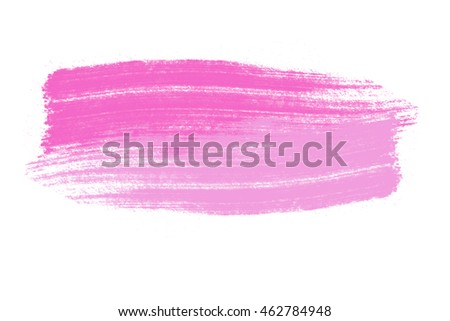 Abstract hand drawn pink watercolor background logo on white background, illustration, copy space for text