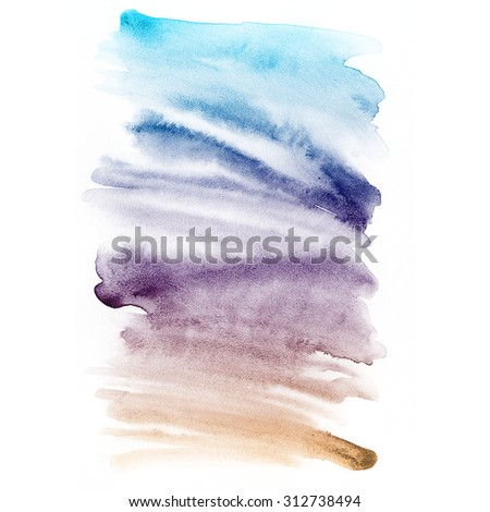 Abstract hand drawn watercolor background. Aquarelle colorful texture. - stock photo