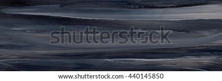 Abstract hand drawn watercolor background, texture in black and grey. - stock photo