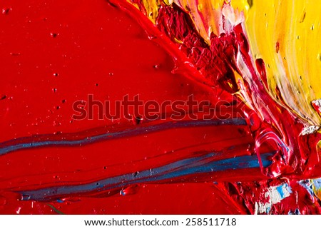 Abstract hand painted art for background. Oil  on canvas - stock photo