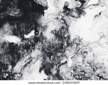 Abstract Hand Painted Black And White Background Acrylic Painting On Canvas Wallpaper Texture