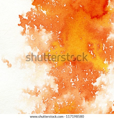 Abstract hand painted watercolor background. - stock photo