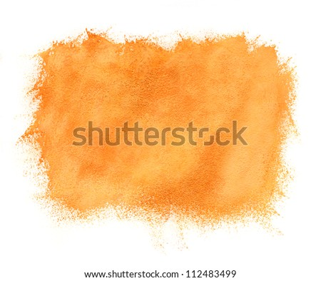Abstract hand painted watercolor orange background