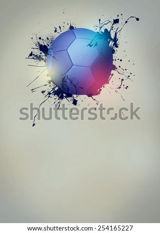 Abstract handball sport invitation poster or flyer background with empty space