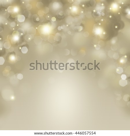 Abstract Happy Holidays background with defocused blinking stars - stock photo