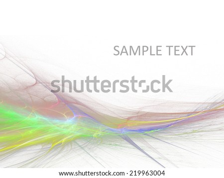 Abstract haze shape on the white background