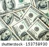 Abstract heap of hundred dollars texture - stock photo
