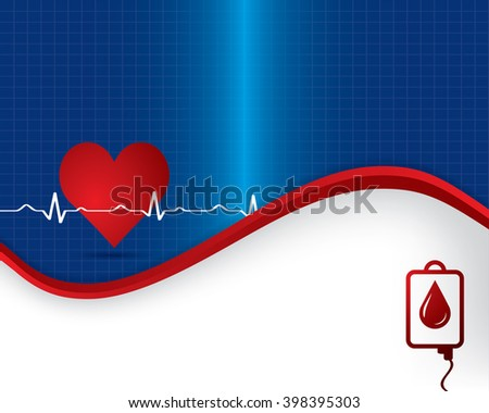 Abstract heart beats cardiogram illustration.
