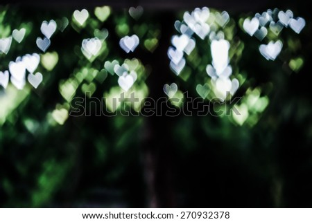 abstract heart bokeh as background, old vintage tone - stock photo