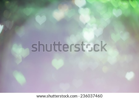abstract heart bokeh as background,vintage tone,vintage style  - stock photo