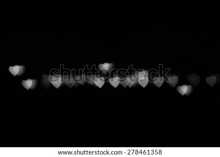 Abstract heart-bokeh background from city light. - stock photo
