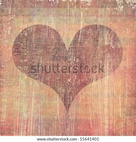 abstract heart grunge background