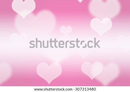 abstract heart shape and blur for background - stock photo