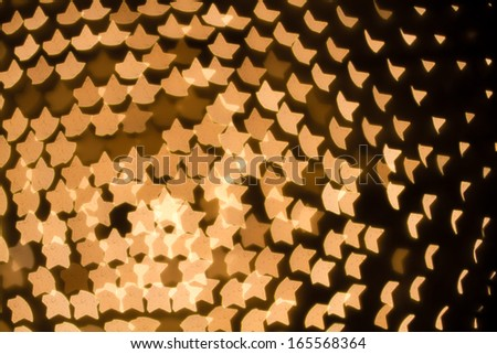 Abstract heart shaped bokeh background of white Christmas lights