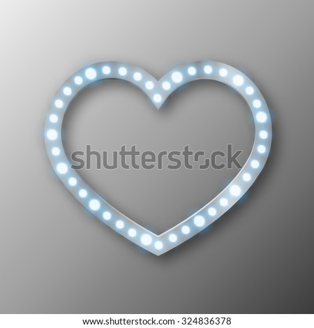 abstract heart with lights illustration image - stock photo
