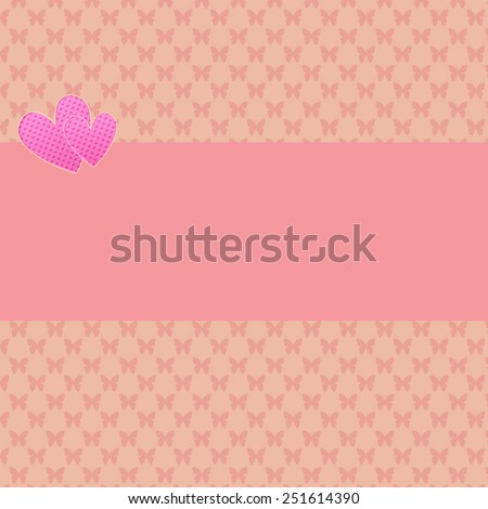 Abstract  Hearts for Valentines Day Background Design