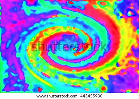 Abstract heat map tornado spiral shape - stock photo