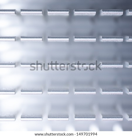 abstract heat sink close up - stock photo