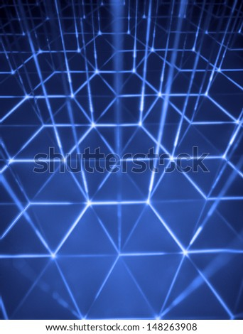 Abstract hexagon background. - stock photo