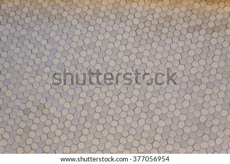 Abstract Hexagon Tiles - stock photo
