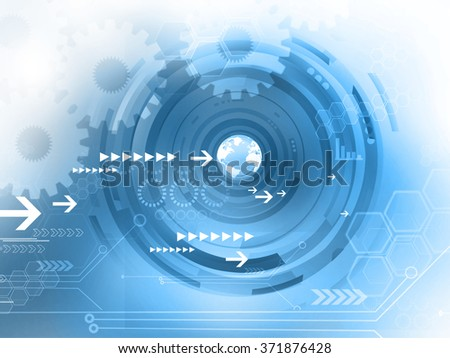 Abstract Hi-tech technological background - stock photo