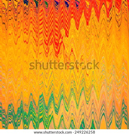 Abstract high-resolution background circular pattern with many decorative branches, curves , balanced in orange, red, pink, blue and green - stock photo