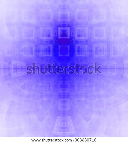Abstract high resolution background with a detailed geometric square pattern and decorative arches, all in purple - stock photo