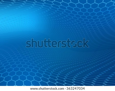 Abstract high resolution faded blue hexagon design background template perfect for healthcare, medical and science and various websites, artworks, graphics, cards, banners, ads and much more.  - stock photo