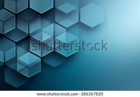 Abstract high tech background in blue tones - stock photo