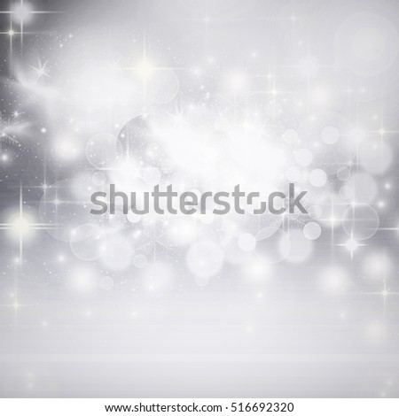 abstract holiday background of Christmas lights - bokeh and copy space
