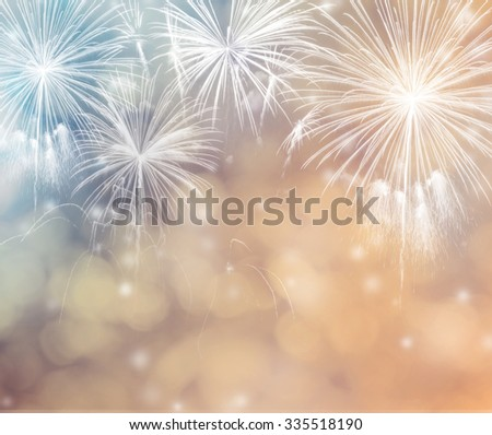 Abstract holiday background with fireworks. - stock photo