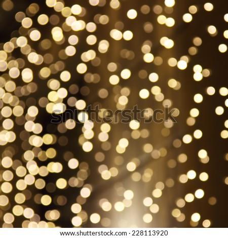 Abstract holiday circular bokeh  - stock photo