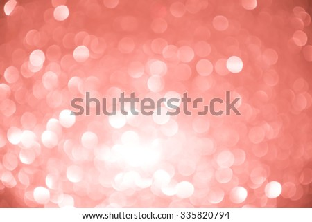 Abstract holiday twinkled bright background with natural bokeh defocused white and pink lights. Festive background. - stock photo