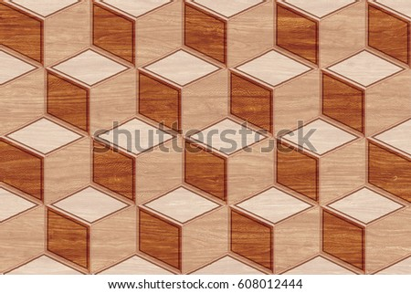 abstract home decorative wooden wall tiles design background