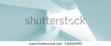 Abstract Horizontal Panoramic Architecture Design - stock photo
