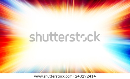 Abstract horizontal pattern with bright colourful explosion. Raster - stock photo