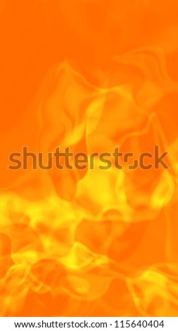 Abstract hot fiery flames background. 3D rendering.
