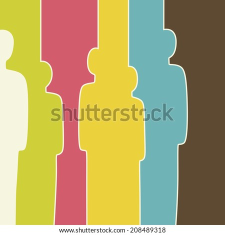 Abstract human. Raster version - stock photo