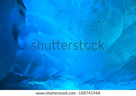 abstract ice background - stock photo