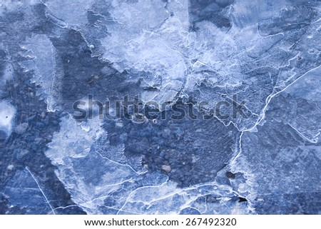Abstract ice texture - stock photo