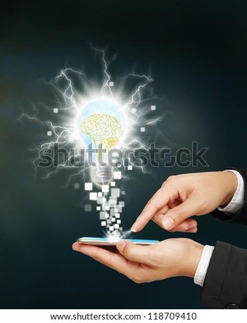 abstract idea spark big idea concept - stock photo