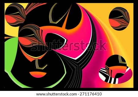 Abstract illustration background graphic design