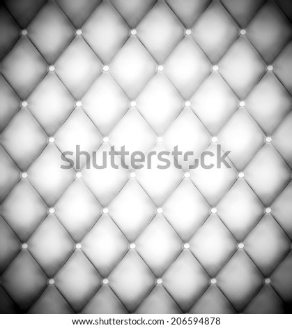 Abstract illustration background texture of an old natural luxury modern style leather with rhombs Classic light white and dark gray grungy skin of retro wall, door, sofa, studio interior with buttons - stock photo