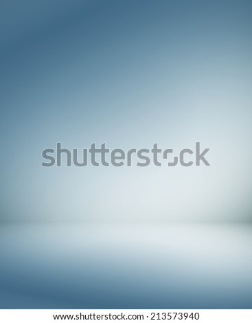 Abstract illustration background texture of beauty dark and light blue, gray, white gradient flat wall and floor in empty spacious room interior - stock photo